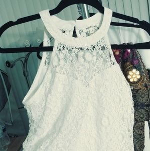 Tops - 2/$60 lacy sleeveless blouse size xs
